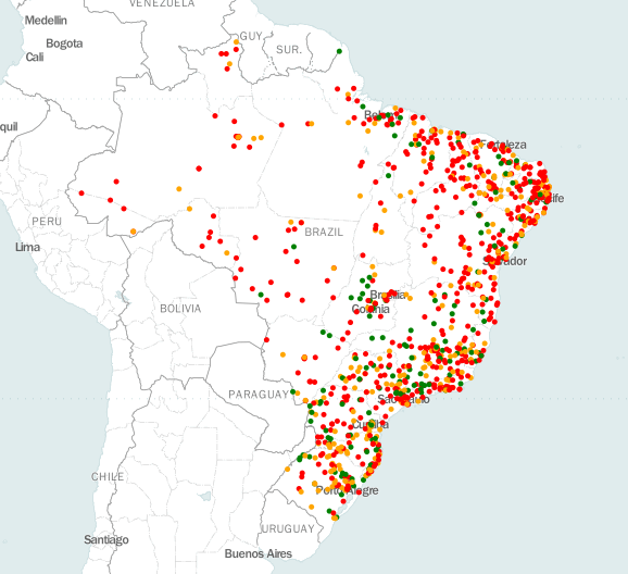 Analyzing The State Of The Basic Health Units Of Brazil UBS Using - Plot cities on a map
